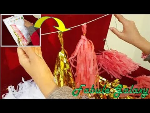 Making of DIY Tissue Paper Tassel Garland with Short Method