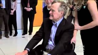 George H.W. Bush surprised by flash mob at Texas A&M