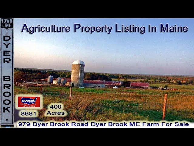 Farms For Sale In Maine Video | 400 Acres Maine Real Estate  MOOERS REALTY 8681