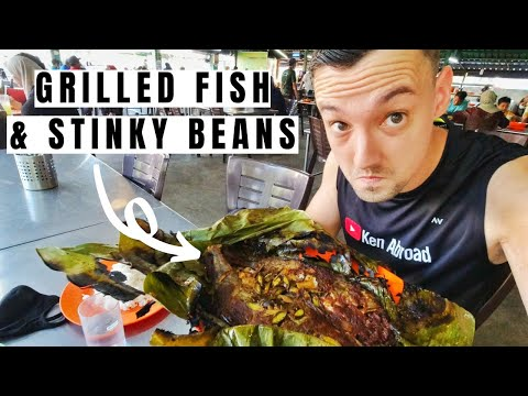First Time Trying Spicy Ikan Bakar Petai (Locals Show Me How To Eat It) - Traveling Malaysia Ep. 67