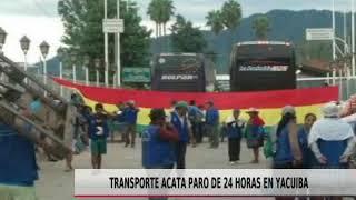 TRANSPORTE ACATA PARO DE 24 HORAS EN YACUIBA