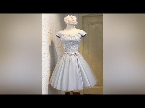 cheap-a-line-off-the-shoulder-satin-short-prom-dresses---millybridal.org