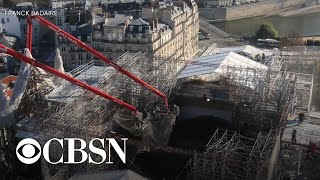 200 tons of scaffolding removed from Notre Dame Cathedral