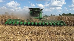 John Deere S690 Tracked Combine with a 16 Row Corn Head