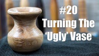 #20 Turning The Ugly Vase - Hollow Form - Wood Turning - Acolyte Turner