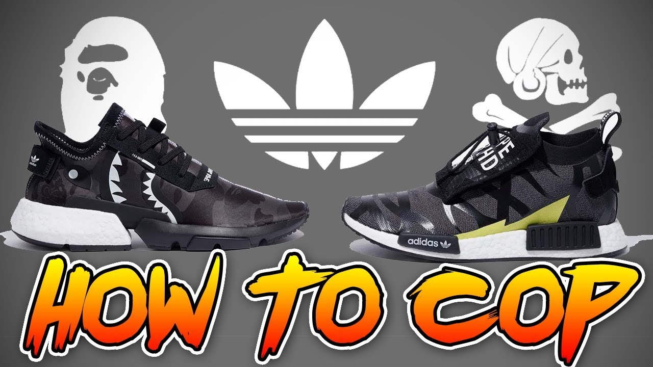 sneakers for cheap 2ff1b 93cbf *100% MUST COP* HOW TO COP THE BAPE x NEIGHBORHOOD x ADIDAS POD & NMD AT  RETAIL! ( RELEASE INFO! )