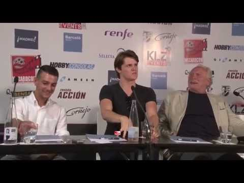 James Cosmo , Eugene Simon and Josef Altin from Game of Thrones in Wizard Con Madrid