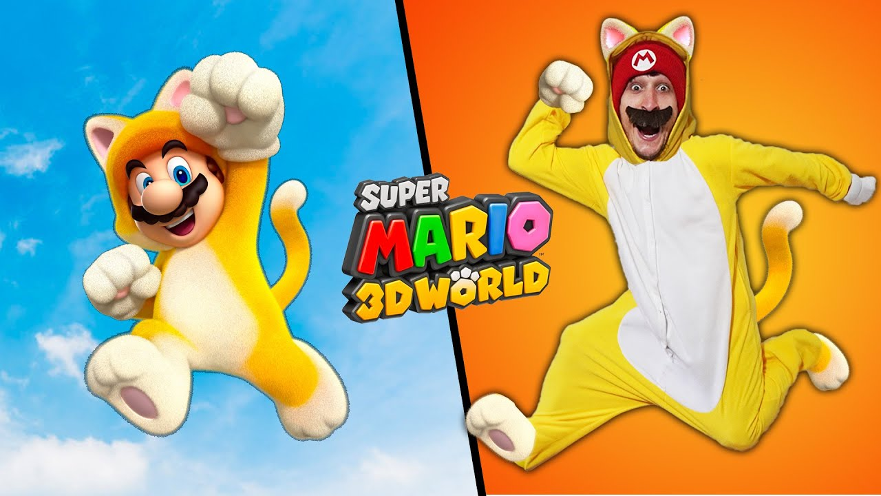 Stunts from Mario 3D World In Real Life