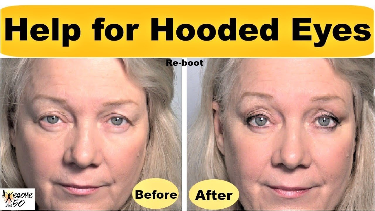 Hooded, Downturned Eyes Lifted, revamped Makeup Tips Video for Women,  Mature Beauty over 12