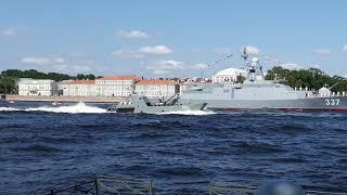 Генеральная репетиция парада ВМФ 2019 в Санкт-Петербурге