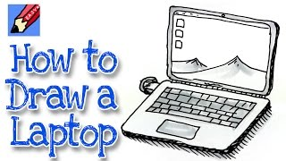 How to draw a Laptop Computer Real Easy