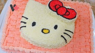 Hello Kitty Birthday Cake. How to Decorate Hello Kitty Birthday Cake. Cách Trang Trí Bánh Sinh Nhật