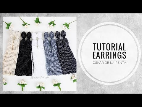 #МК - Серьги Оскар де ла Рента из бисера | #Tutorial - Earrings Oscar de La Renta beaded