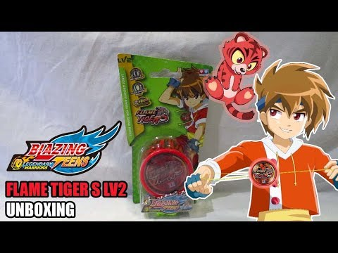 Unboxing Yoyo Blazing Teens The Legendary Warrior - Flame Tiger S LV2