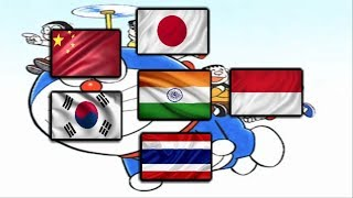 Doraemon Opening (Different language) Japan, china, korea, thailand, indonesia, india