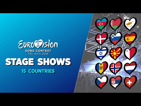Eurovision 2019:Stage Shows (15 Countries)