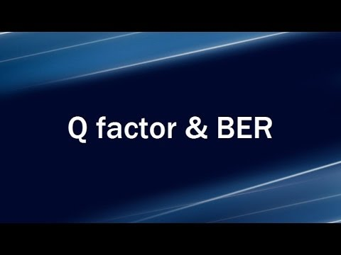 Lecture 1: Noise Sources L Q factor and BER