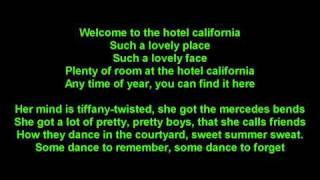The Eagles - Hotel California -True-HD-onscreen Lyrics