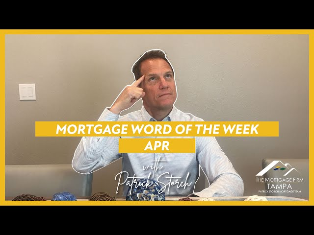 MORTGAGE WORD OF THE WEEK 📚 APR