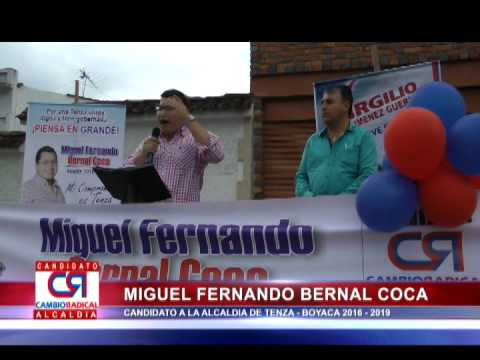 DISCURSO PLAZA PUBLICA DOCTOR MIGUEL FERNANDO BERNAL COCA