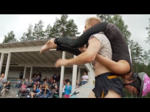 Finland hosts wife-carrying world championships