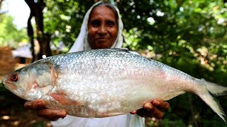 Unique Hilsha Fish Cooking by Grandmother | Authentic Hilsha Recipe Purely Village Cooking Style