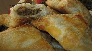 Рецепт- Слойки с мясом