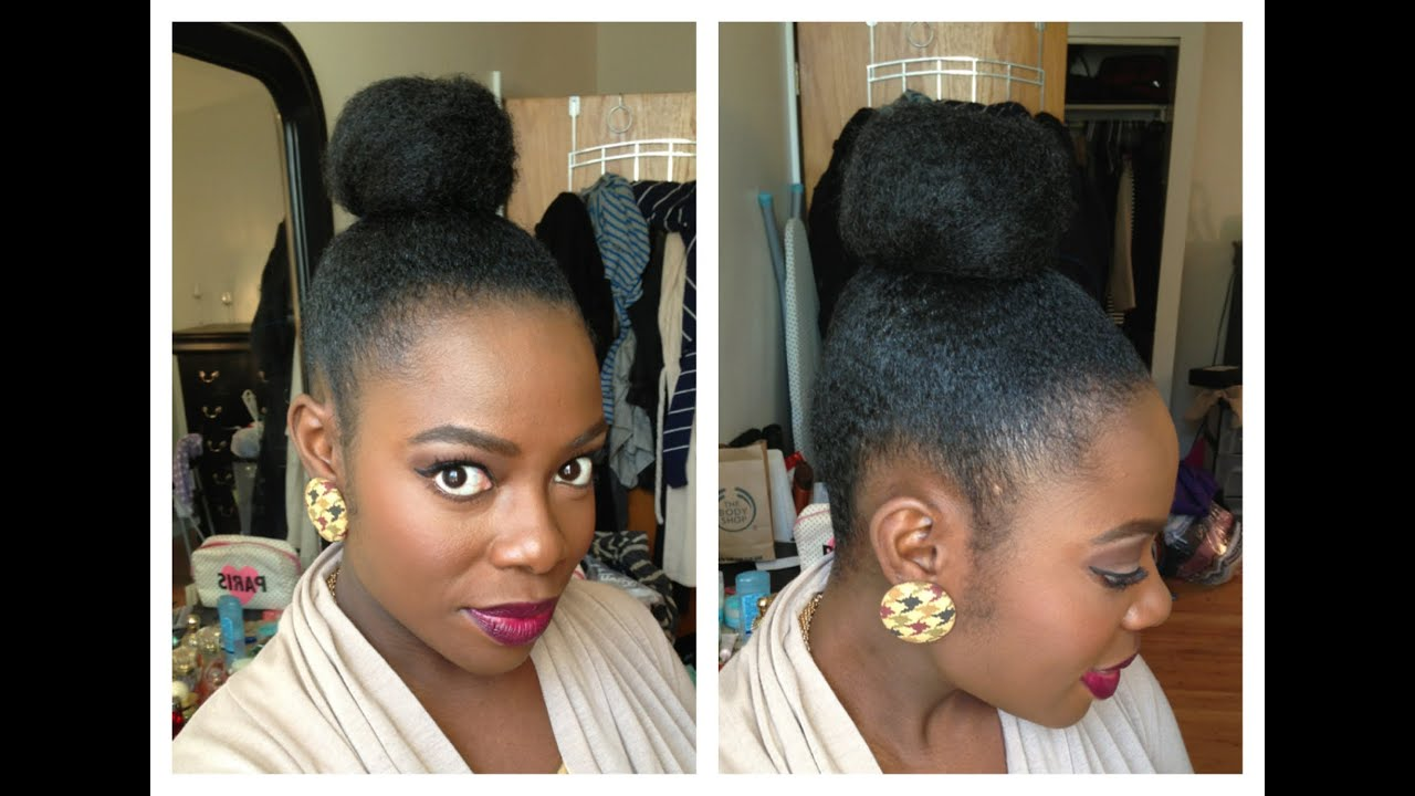 How To Get Your Natural Hair Bun Laid