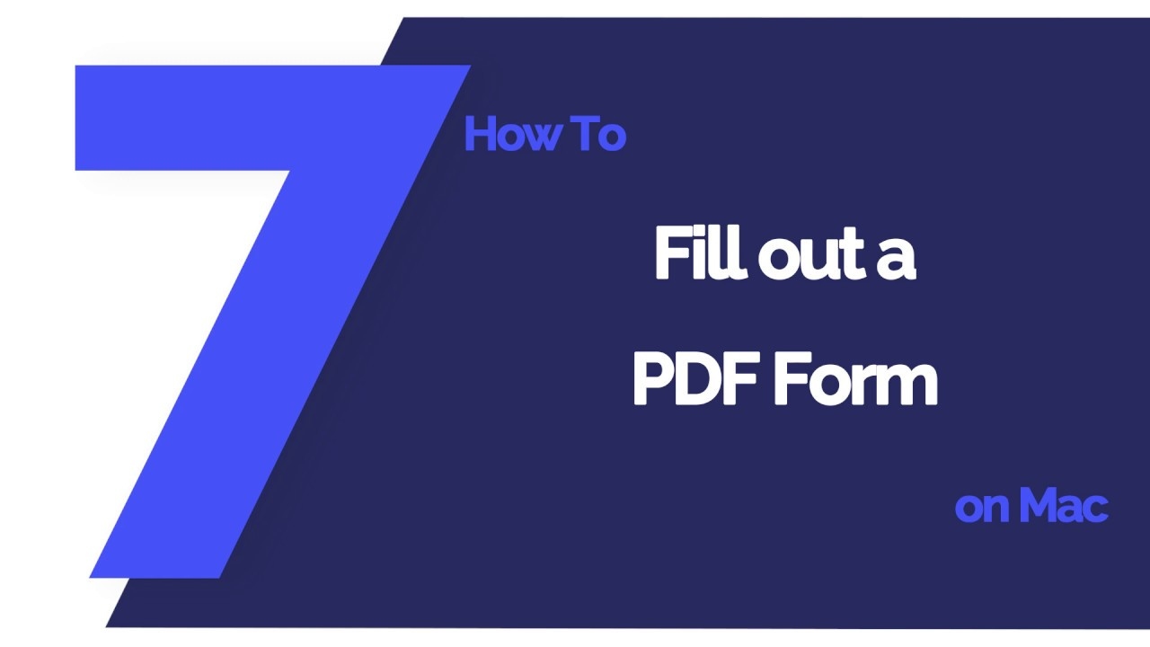 How to Fill out PDF Forms with Preview on Mac