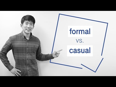 How to know which Korean word is more formal