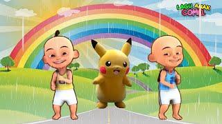 Upin Ipin Tayo Pokemon Bermain Hujan Hujanan - Lagu Anak Populer  - Tik Tik Tik Bunyi Hujan