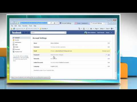 How to Change your Login Email Address on Facebook®