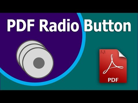 How to create Radio Button in PDF Form using Adobe Acrobat