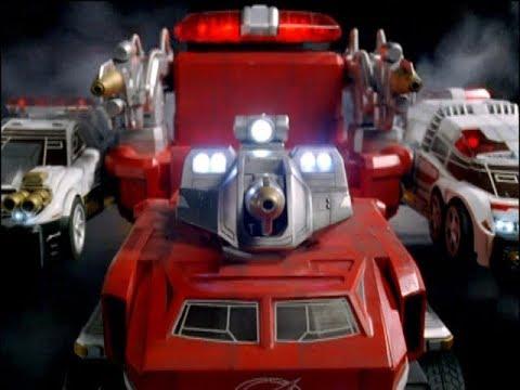 Power Rangers Operation Overdrive - Just Like Me - Megazord Fight (Episode 16)