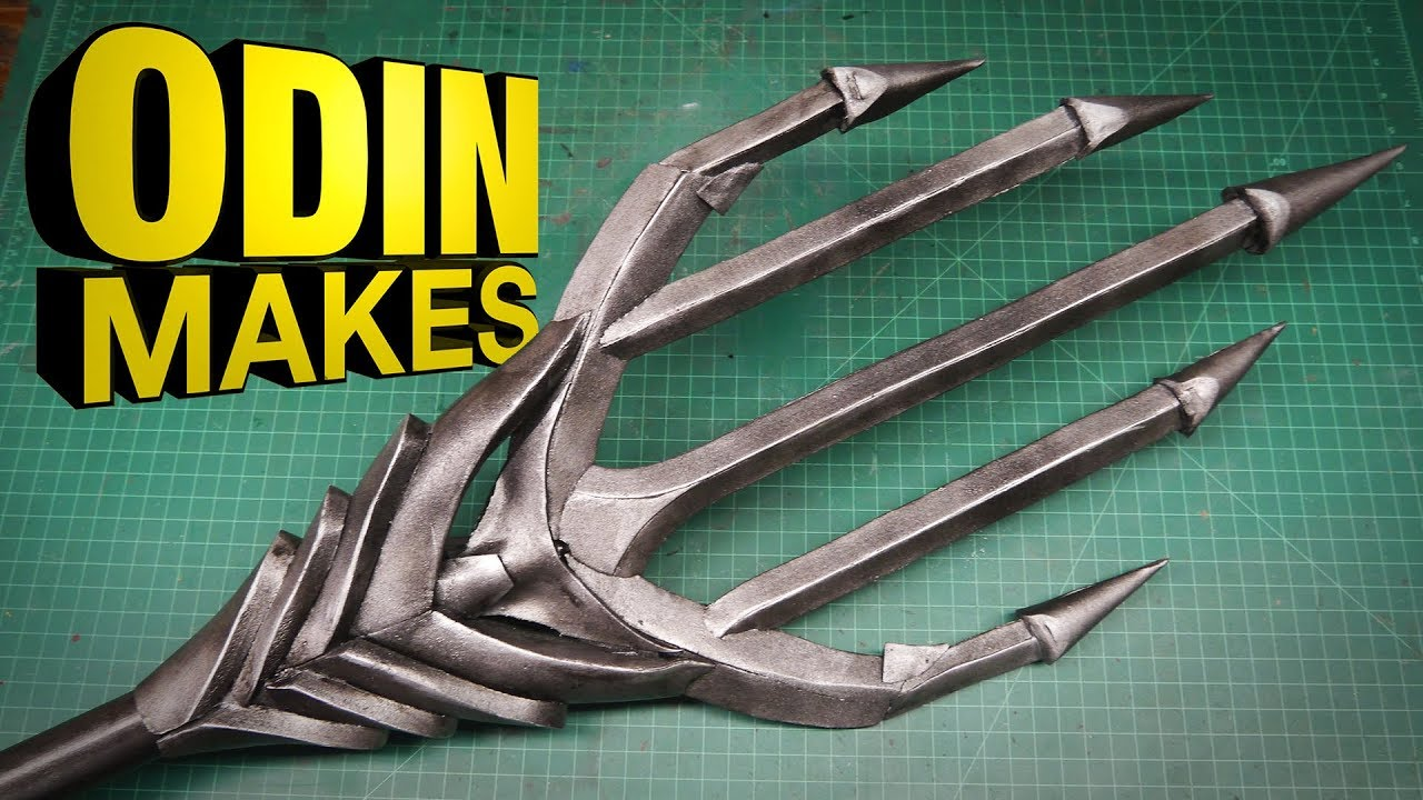 tridente aquaman  Odin Makes: Aquaman's Trident from Justice League - YouTube