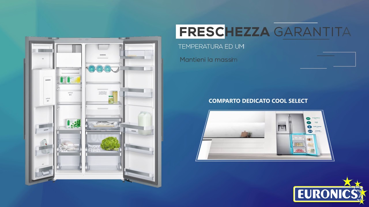 Samsung | Frigorifero side-by-side A+ | Serie 9000 RF60J9000SL - YouTube