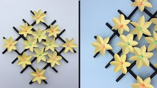How to make Wall Hanging Paper Flower | DIY Hanging Flower | Home decor | Wall Decoration ideas