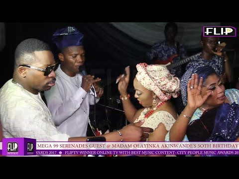 MEGA 99 ENTERTAINS GUESTS @ MADAM OLAYINKA AKINWANDE'S 5OTH BIRTHDAY