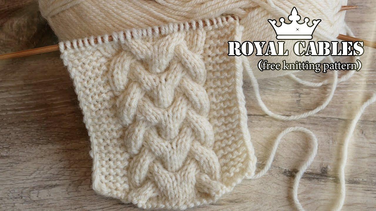 👑 Королевская коса спицами 👑 Royal cables knitting pattern 👑