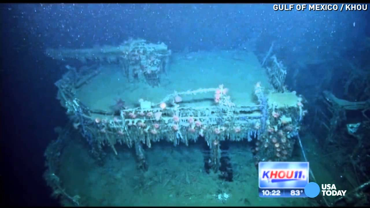Video Shows Sunken Nazi Ship In Gulf Of Mexico Youtube