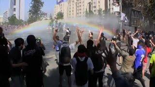 La violencia va desapareciendo de las protestas en Chile