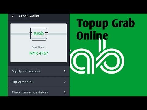 How to topup grab driver credit wallet online