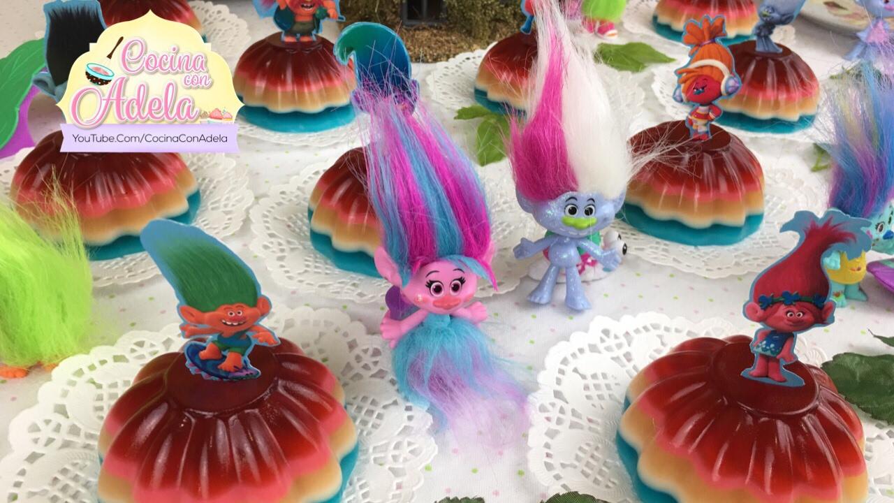 como hacer gelatina de arcoiris para fiestas infantiles