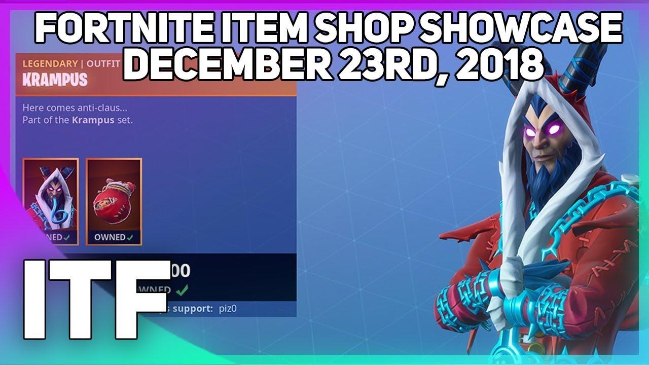 Fortnite Item Shop New Krampus Skin December 23rd 2018