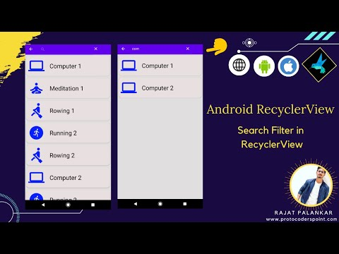 How to add Search Filter to  Recyclerview – Android Recyclerview Filterable