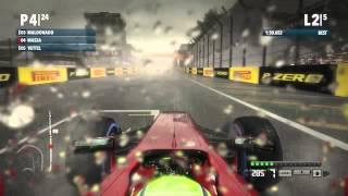 Codemasters F1 2012 - Gameplay - Interlagos - Heavy Rain - Felipe Massa