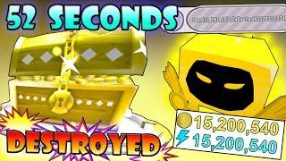 Destroying DOMINUS SHRINE in *52 SECONDS*!!! - Roblox Pet Simulator