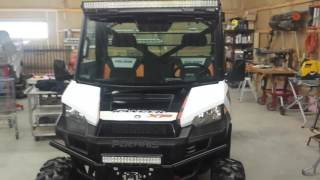 "52"" curved LED light bar on Polaris Ranger 900"