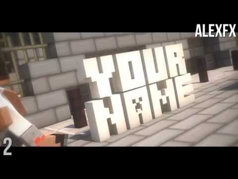 TOP 10 FREE 3D SYNC MINECRAFT INTRO TEMPLATES 2015 CINEMA 4D AFTER EFFECT