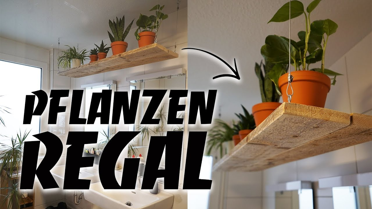 Pflanzen Hängeregal DIY Aus Altholz